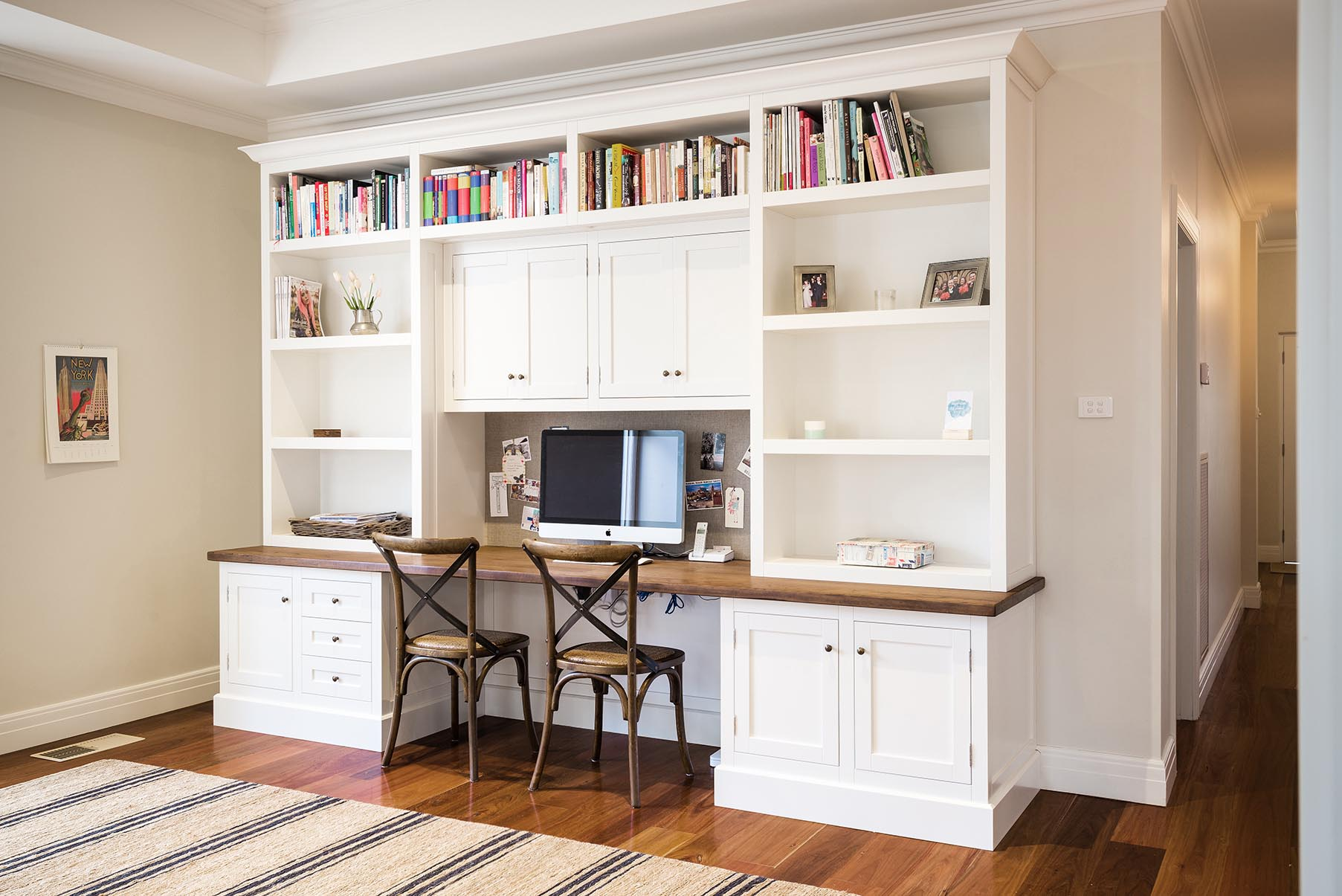 Hampton bookcase steding interiors joinery - Home office cabinet design ideas ...