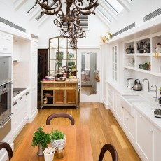 White Timber Kitchen, Skylight