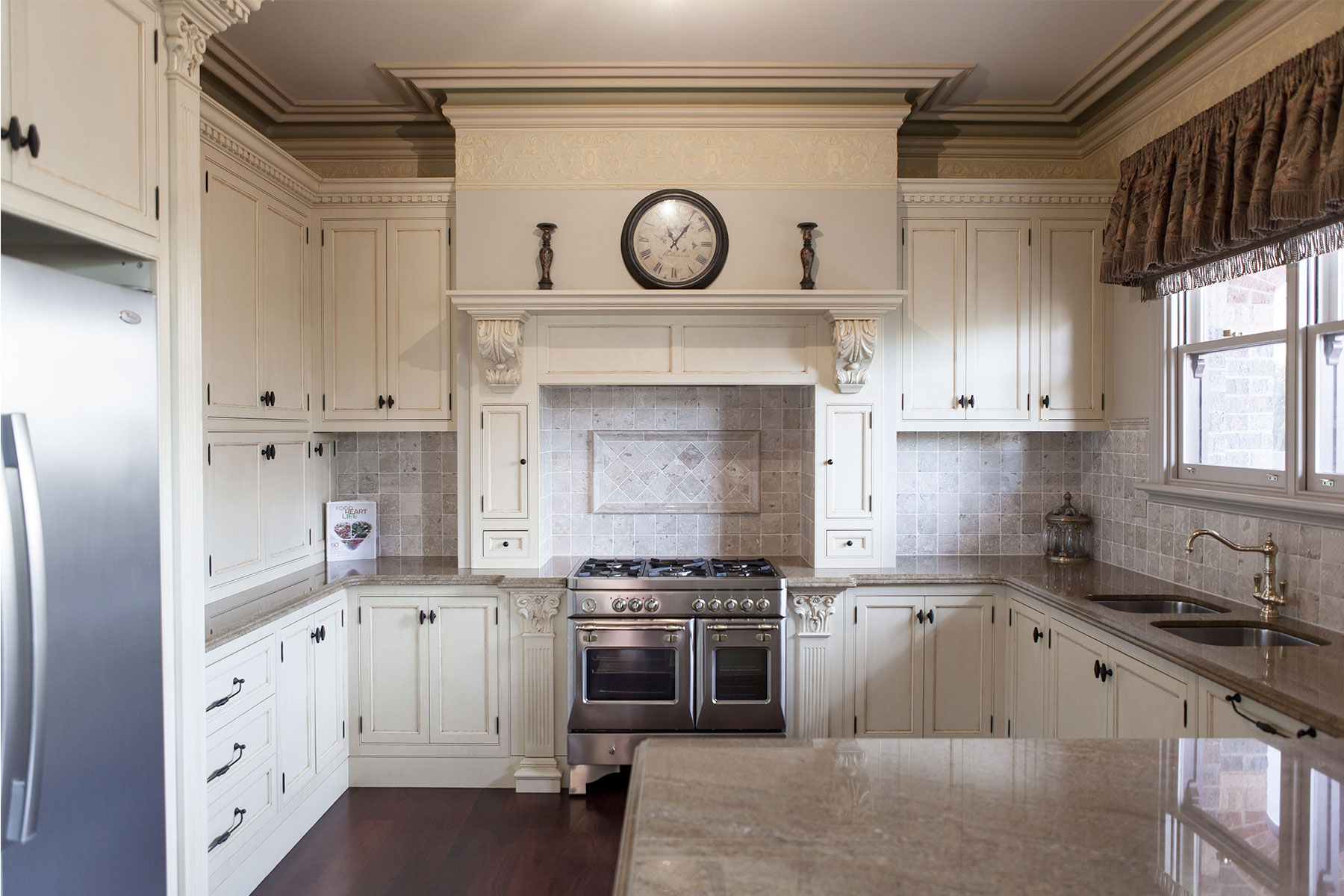 Aged French Provincial Kitchen Steding Interiors Joinery Melbourne