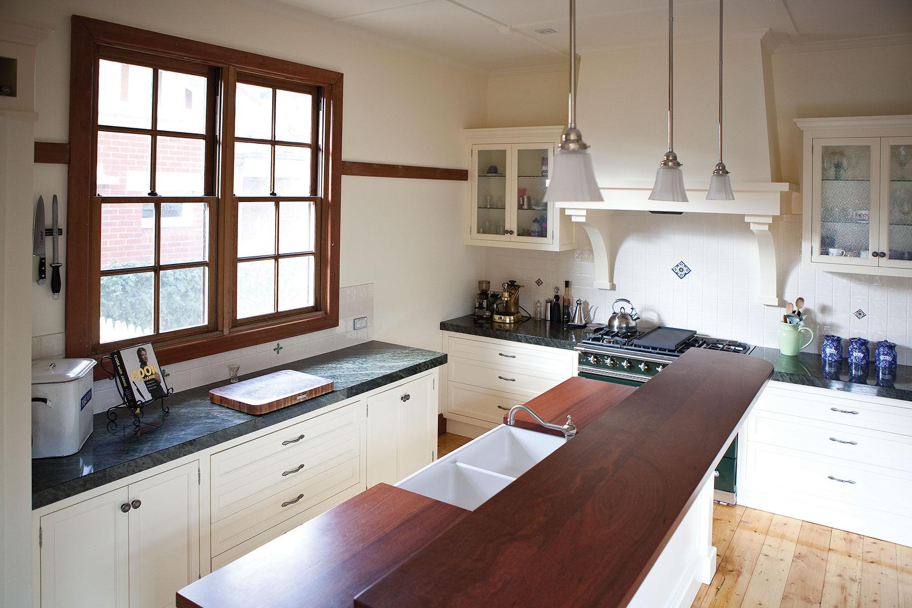 kitchen with split level island steding interiors