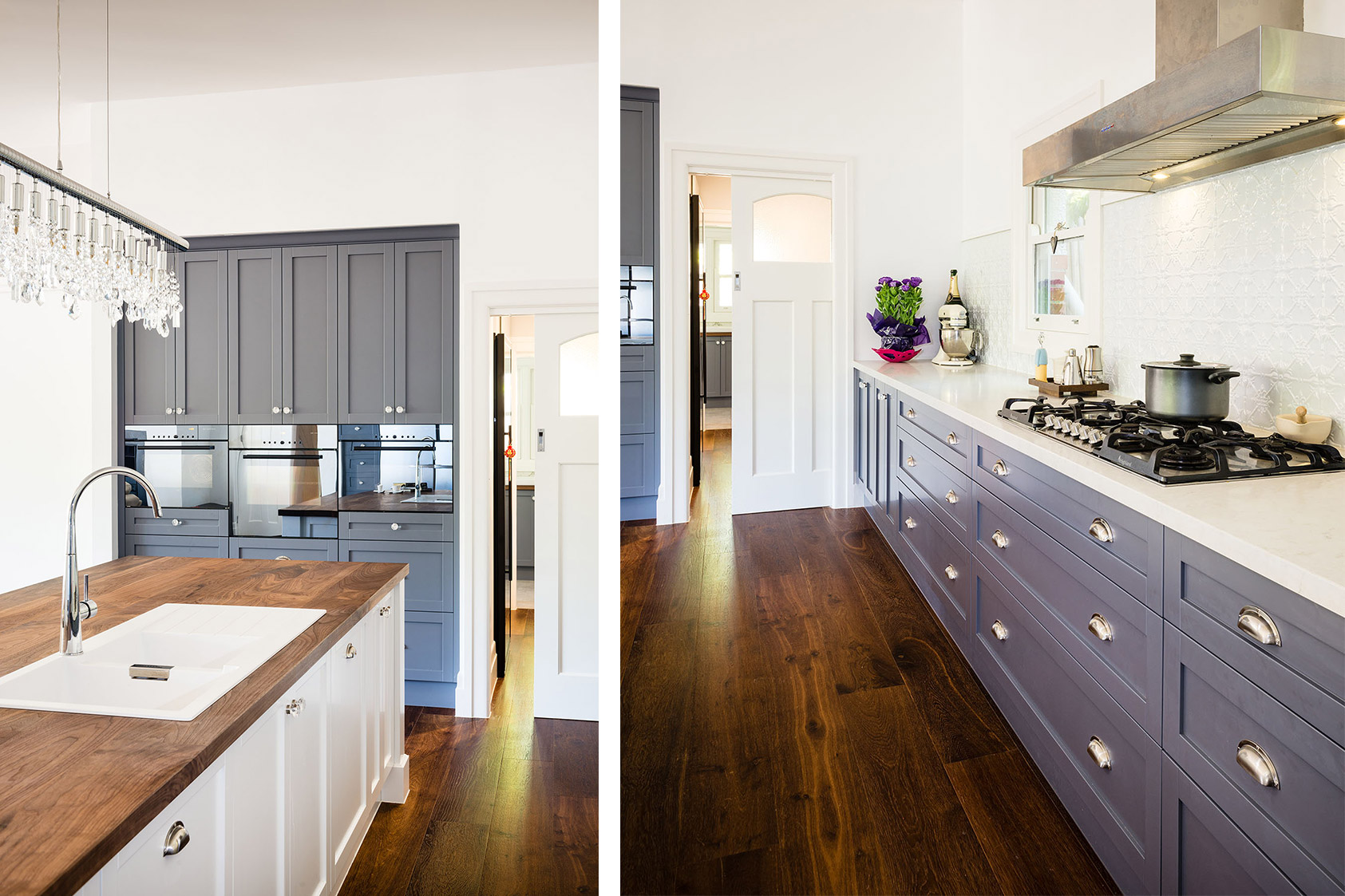 Blue Hampton Kitchen Steding Interiors Amp Joinery
