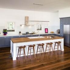 Blue Shaker Style Kitchen